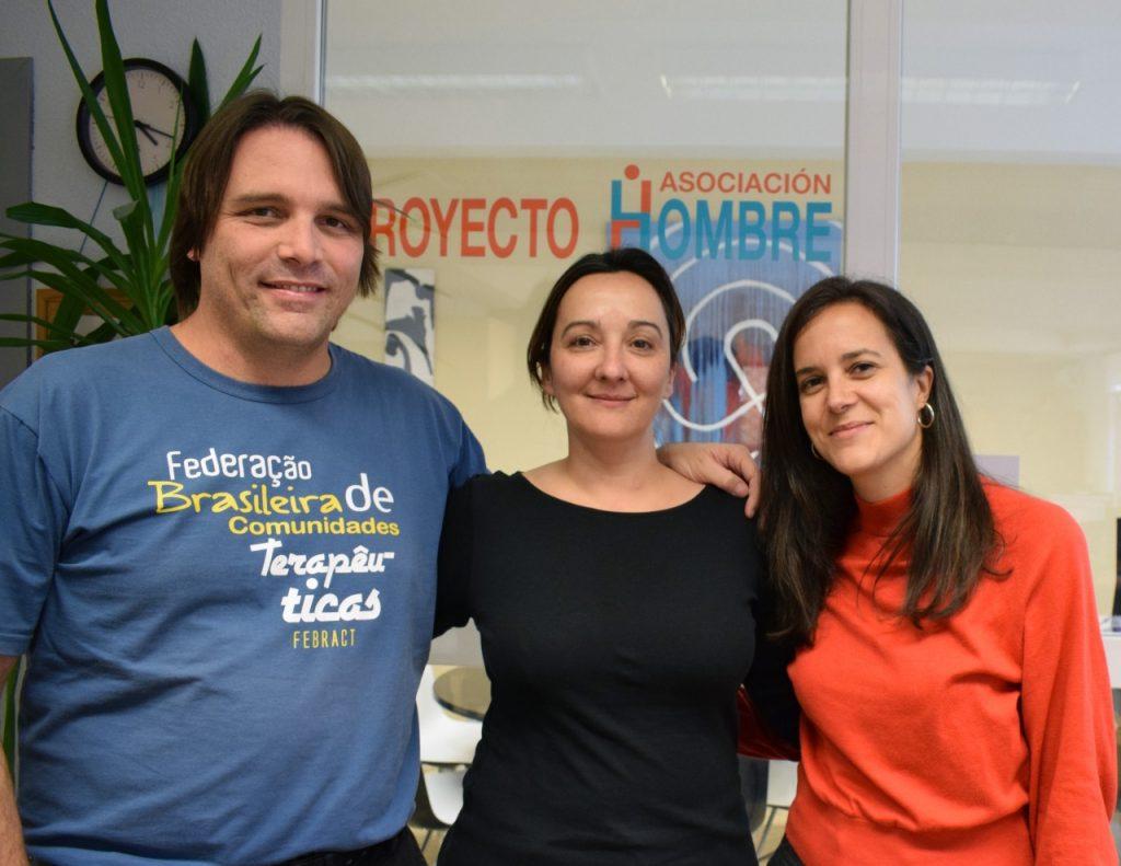 FEBRACT na sede do Proyecto Hombre de Espanha